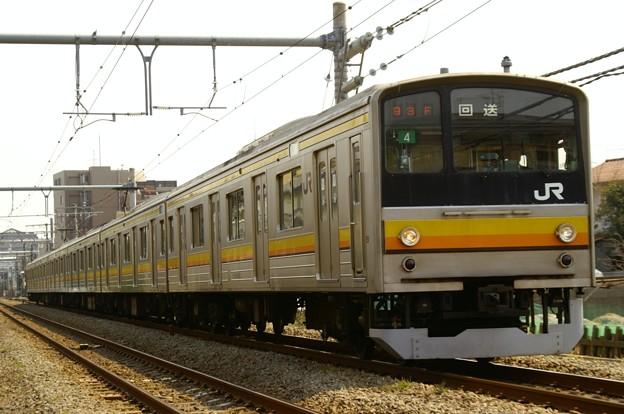 205系0番代ナハ4編成OM入場回送