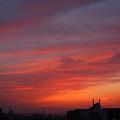写真: 昨日の空は焼けました。
