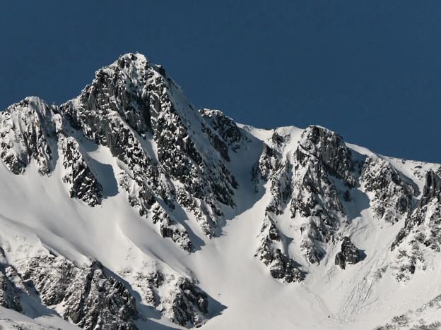 厳冬の宝剣岳。