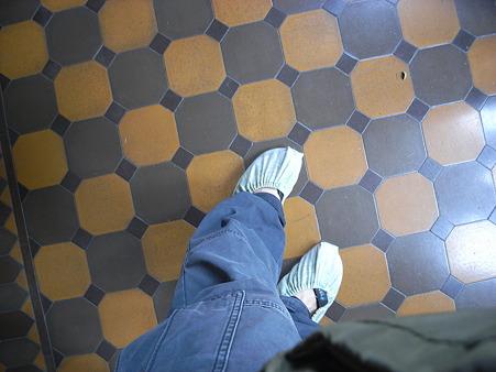 見学用足カバー
