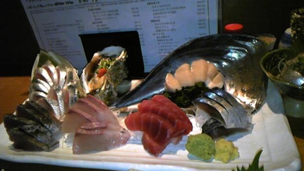 魚金 新橋の3点盛り これで1人前、1,280円