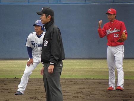 026 なんとなく平田と堂林(ФωФ)