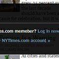 写真: Chromeアプリ:NYTimes(ログイン、拡大)