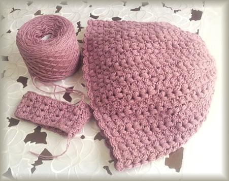 アルパカウールで編み編み中♪