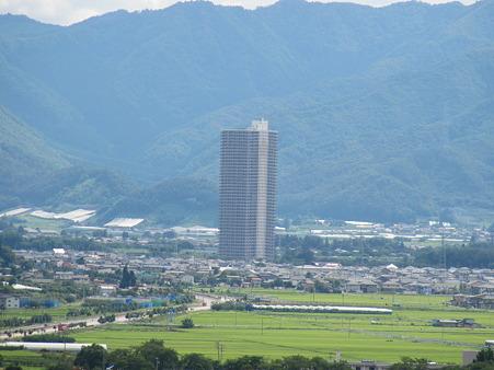 観覧車からのスカイタワー