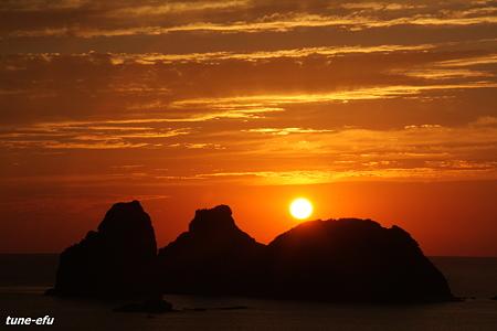 神楽島夕景・1