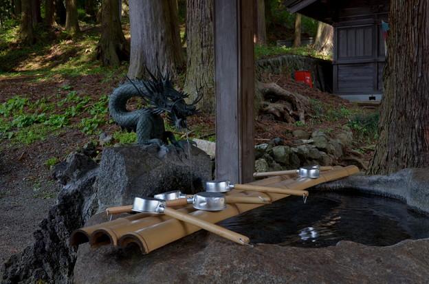写真: 河口浅間神社・手水舎