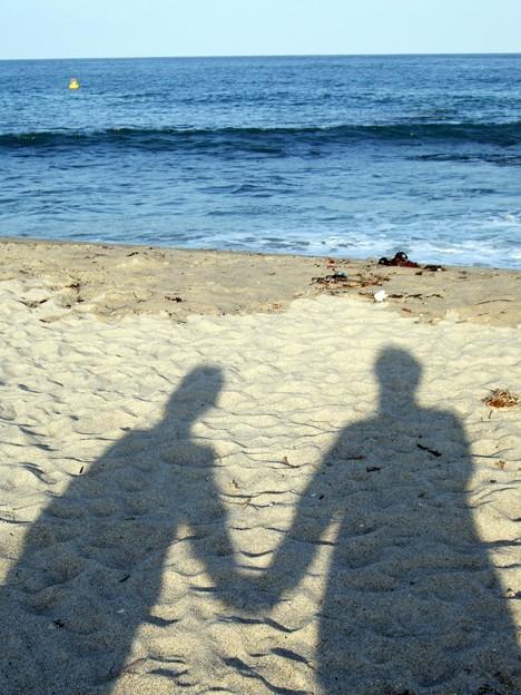 Photos: 二人で海