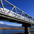 富士山と新幹線300系