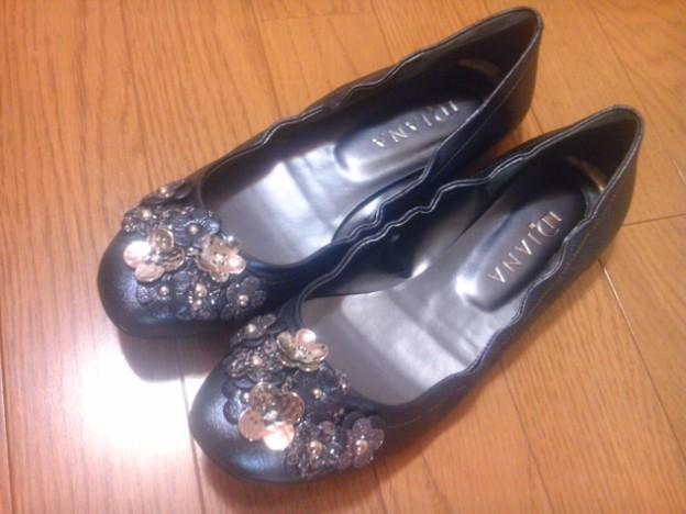 本日お買い上げっ♪ダイアナのぺたんこ靴(^O^)やっぱり靴は