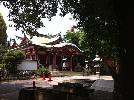 7月の亀ヶ岡八幡宮1