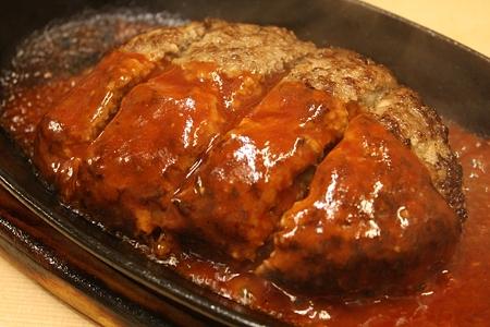 2010/08/13(FRI) 旭市・大衆肉料理 今久/特製ハンバーグ(和牛100%使用) 630円