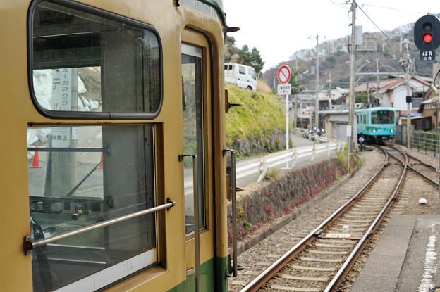 稲村ヶ崎駅にて