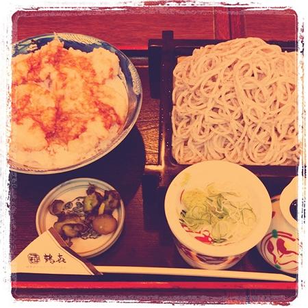 ごまそば鶴喜 鶏天丼セット