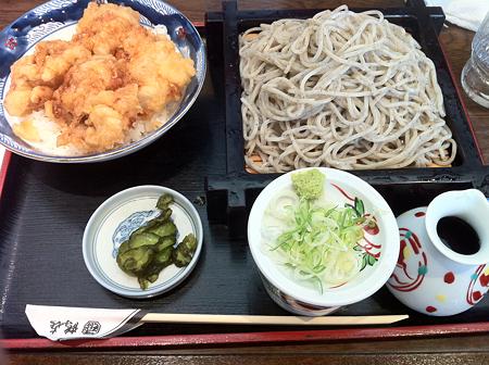 鶴喜 鶏天丼セット