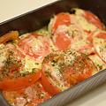 写真: トースターパン/トマトチーズ焼き