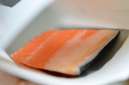 鮭の切り身をIN