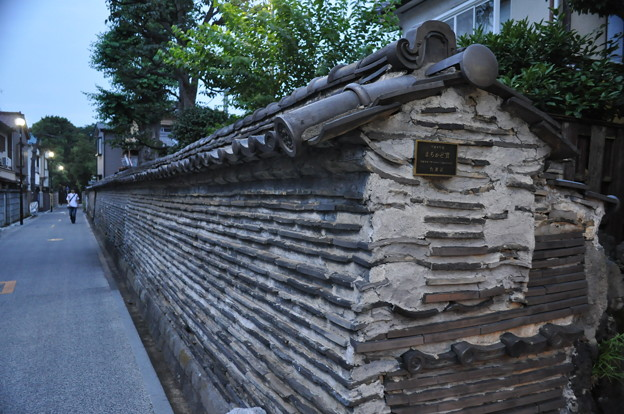 台東区谷中の築地塀と築坂_DSC_0528