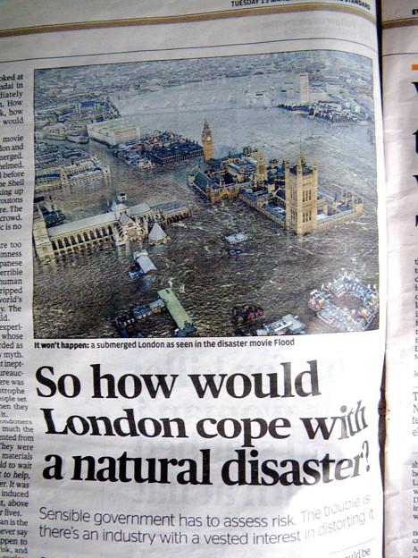 もしロンドンで地震があったら