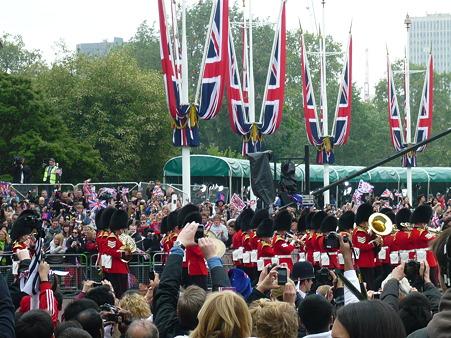 英国衛兵隊の行進