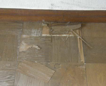 古い床材,カビ