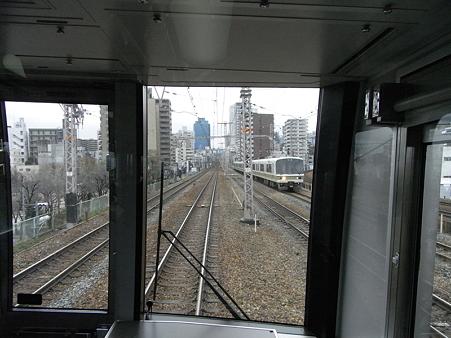 321系東海道本線の車窓(新大阪→大阪)6
