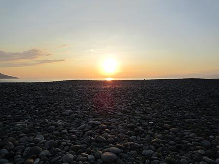 海での夕日