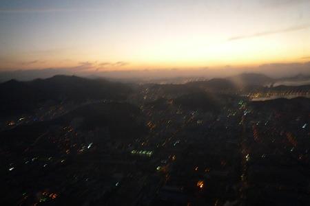 釜山(金海国際空港)上空