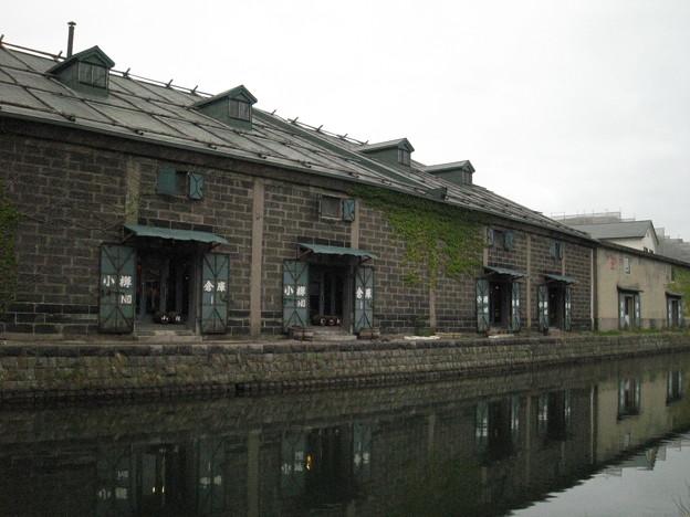 小樽倉庫№1運河沿いから