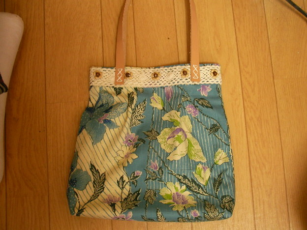 手縫い手提げバッグ