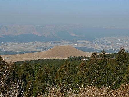 米塚の秋(5)草千里展望所から