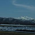 白山と手取川の土手
