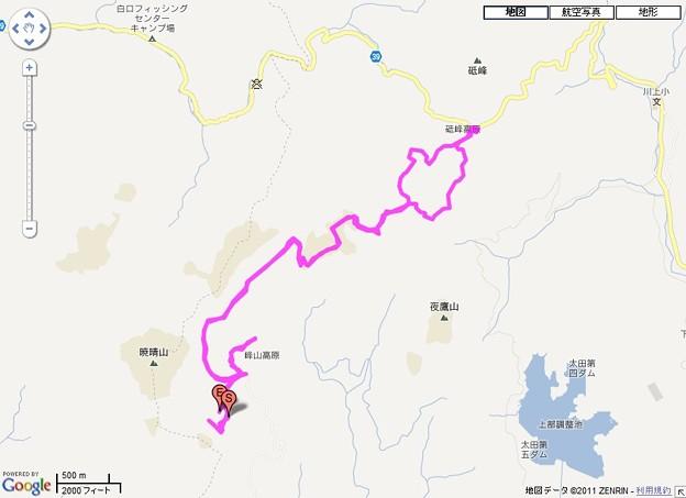 峰山高原・砥峰高原ハイキングGPSログマップ