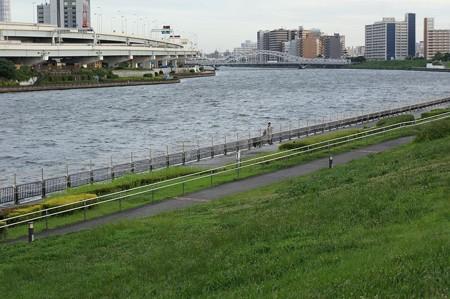 汐入公園 隅田川花火大会の準備 1