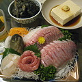 Photos: 晩ご飯はイサキの刺身盛り
