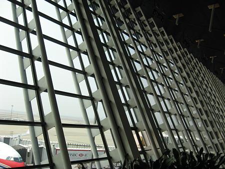 上海浦東空港出発ロビー