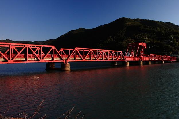 長浜大橋、日本最古の赤い現役道路可動橋