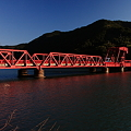 写真: 長浜大橋、日本最古の赤い現役道路可動橋